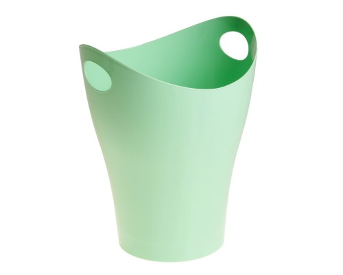 Корзина для бумаг 8 литров зелёная Pastel