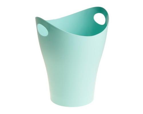 Корзина для бумаг 8 литров голубая Pastel