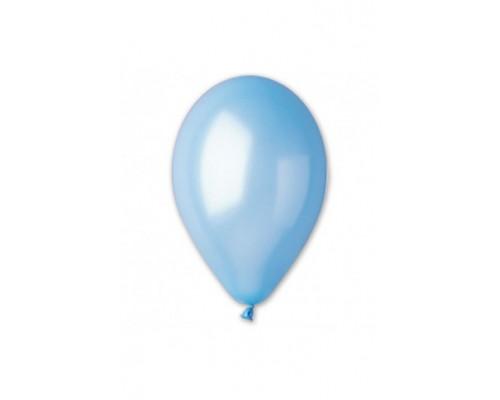 """Воздушные шары Металлик Светло-Голубой 12"""" 1шт."""