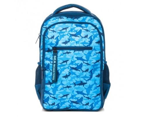 Рюкзак BASIC STYLE Морские охотники для мальчика, старшая школа
