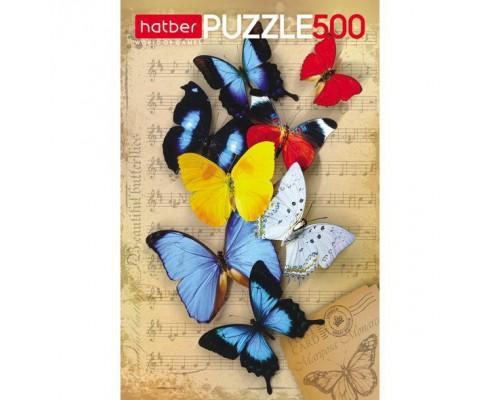 ПАЗЛ 500 элементов Бабочки