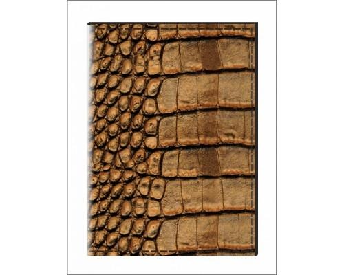 """Обложка для паспорта """"Аллигатор"""",9.5х13.5см.,экокожа"""