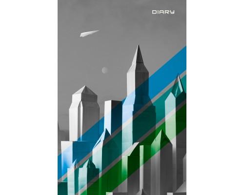 Ежедневник (недатированный) А5 112 листов Графика. Город недатированный