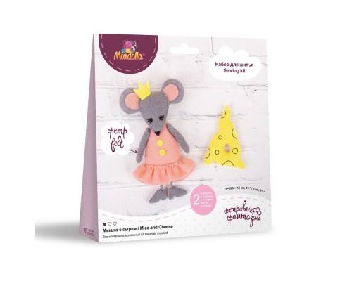 """Набор для изготовления игрушек """"Miadolla"""" Мышка с сыром"""