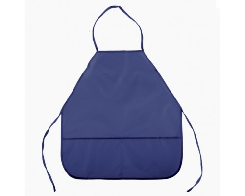 Фартук deVENTE 45x54 см (M), 3 кармана, однотонный темно-синий для мальчика