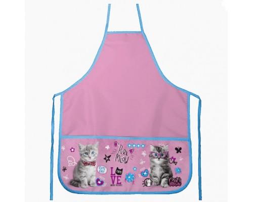 Фартук deVENTE. Purr Meow 45x54 см (M), 3 кармана с рисунком, для девочки