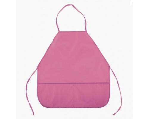 Фартук deVENTE 45x54 см (M), 3 кармана, однотонный розовый, для девочки