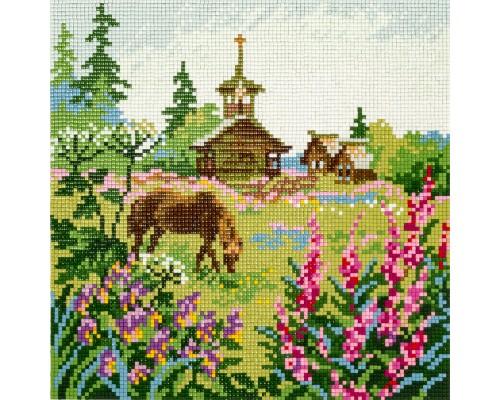 """Алмазная мозаика """"Северное лето"""" 24 х 24 см"""
